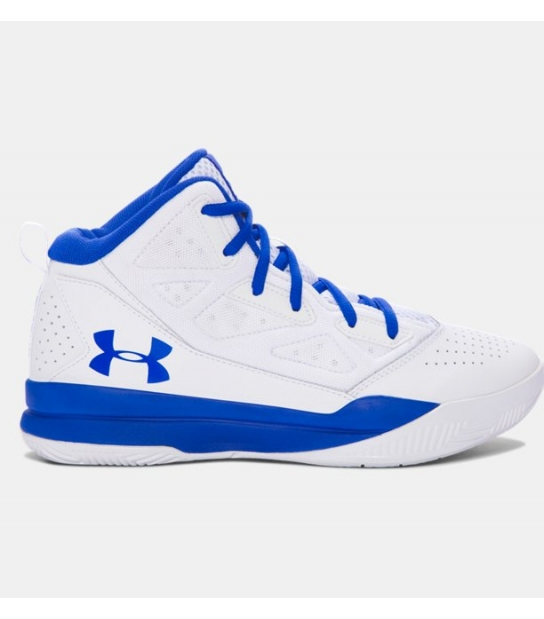 Under Armour BGS Jet Mid Junior Bianco Azzurro