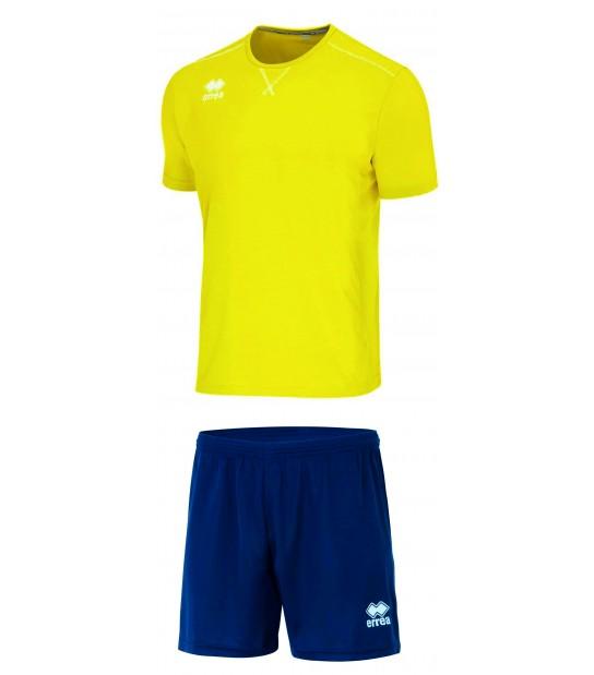 errea Kit Everton Giallo Fluo Blu Navy