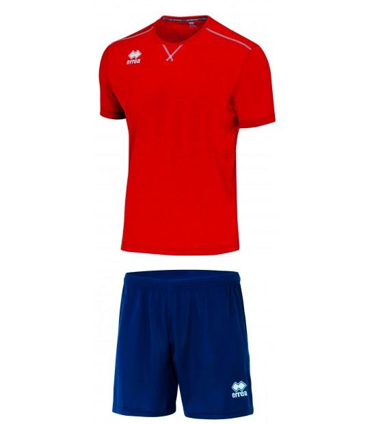 errea Kit Everton Rosso Blu Navy