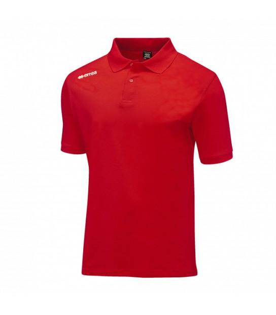 errea Polo Team Colours Rossa con logo