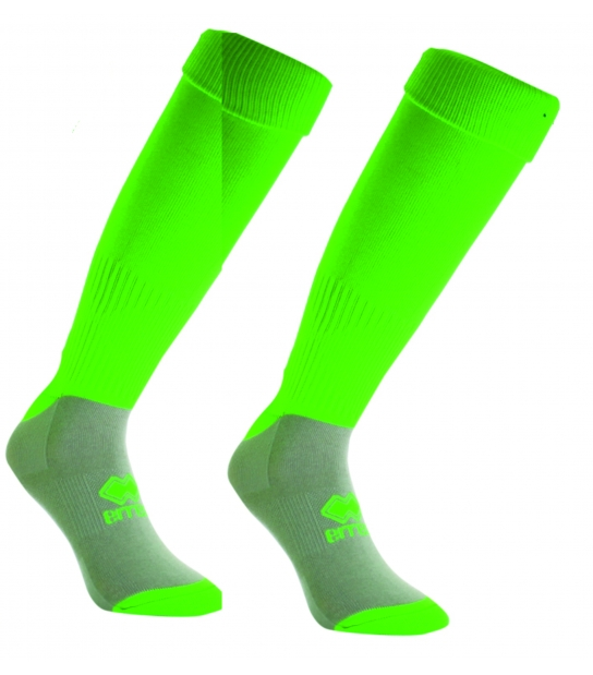 errea Calza con Piede Verde Fluo